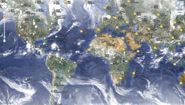 Google Maps World Weather - Meteo del mondo
