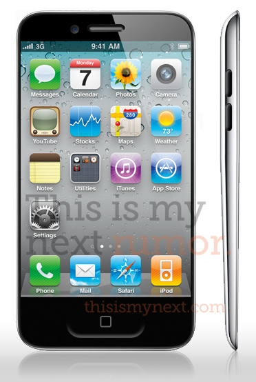 Il mockup di iPhone 5