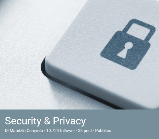 Raccolta Security & Privacy