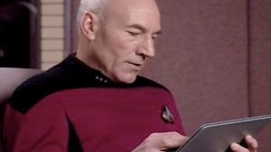 In Star Trek in capitano Picard leggeva le informazioni su un tablet