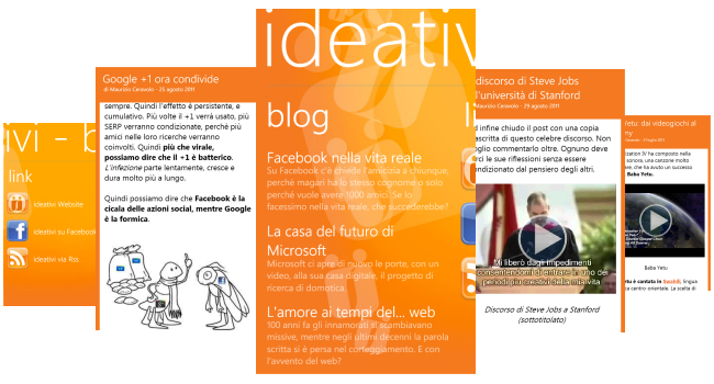 app blog ideativi su Windows Phone 7